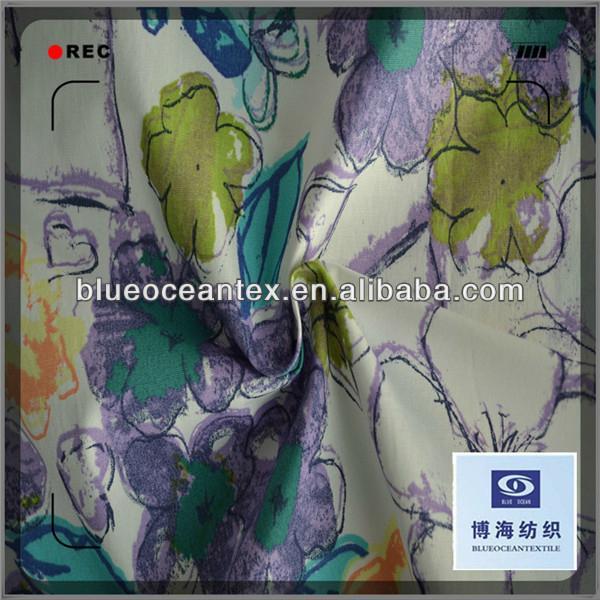 Cotton Printed Poplin Fabric for Skirt 40X40/133X100 5