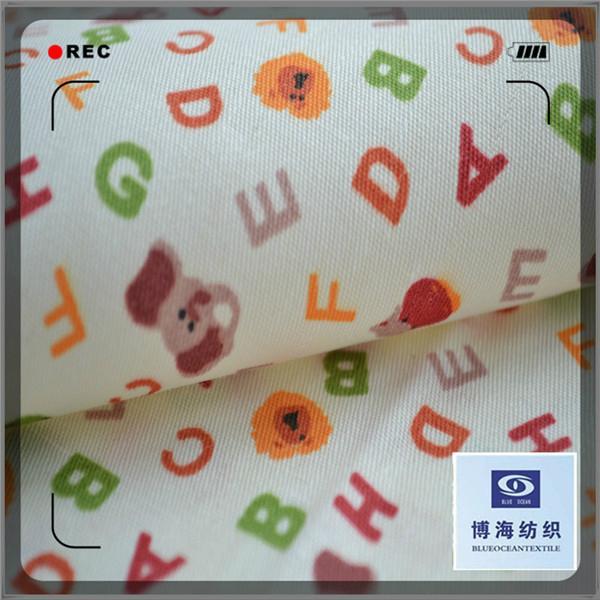 100% cotton Printed Poplin Nice Printed 32s Cambric Fabric 1