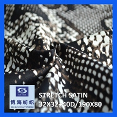 98% cotton 2% spandex printed satin fabric 32x32+40d/190x80