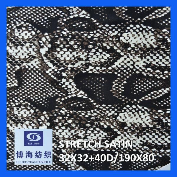 98% cotton 2% spandex printed satin fabric 32x32+40d/190x80 2