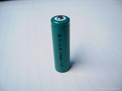 AA nickel metal hydride rechargeable battery