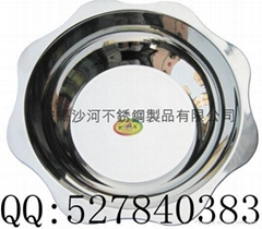 kitchen diameter 40cm s/s lotus basin seafood hot pot Available induction cooker