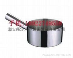 家用廚房用品14cm不鏽鋼U形水勺砂鍋米線鍋