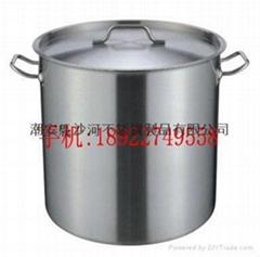 inox soup pai,tri-ply bottom stockpot,oblique bucket