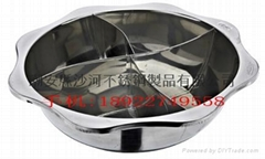 Stainless Steel Pot with Partition (4 Conpartment) Induction Cooker Available