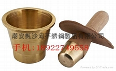 Brass pestle & mortar for Chinese medicine stores