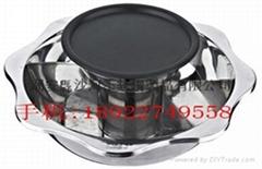 various size bbq steamboat/shabu Shabu hot pot with Non Stick BBQ Pan