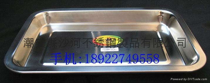 stainless steel squre plate,Rectangular Tray,Shallow Rectangular Tray 4