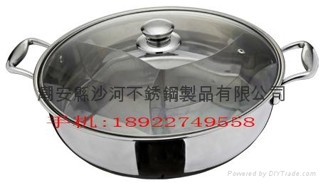 Chinese style Stainless Steel Five Layer Fondue 4