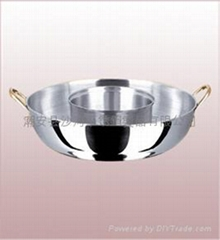 two tastes chafing dish pot,stainless steel hotpot