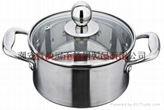 High Quality Kitchen Utensils Manufacturer Cooking Stock Pot with Glass Lid