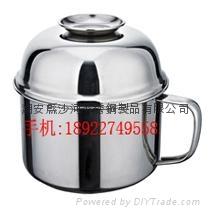餐具13.8cm410不锈钢快餐杯学生日常生活用品