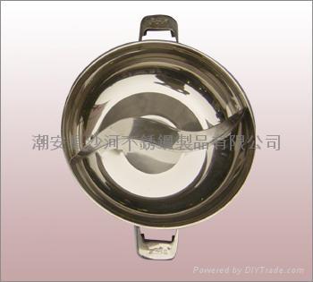商业厨具三合钢鸳鸯火锅36cm不锈钢鸳鸯锅可用电磁炉燃气炉瓦斯炉 5