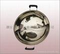 商业厨具三合钢鸳鸯火锅36cm不锈钢鸳鸯锅可用电磁炉燃气炉瓦斯炉 6