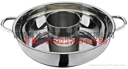 不鏽鋼帶燒烤多層火鍋鍋具 5