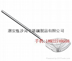 stainless steel wire skimmer/slotted spoon with long handle
