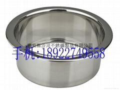 stainless steel Sinking type Hot pot pot ring