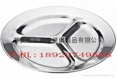 不鏽鋼三格快餐盤