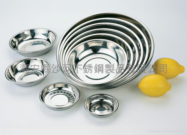 Stainless steel Pudding plate,Round Tray and Plate,Deep plate 1