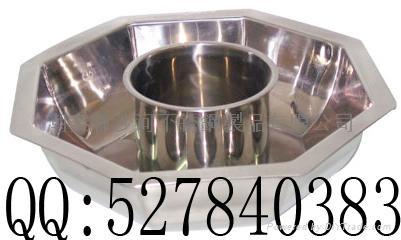 S/S Octagonal shape Shabu Shabu Hot Pot with central pot Available Gas stove 1