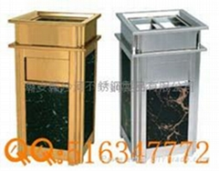 Ground Ash Barrel,gild garbage can,inox trash can