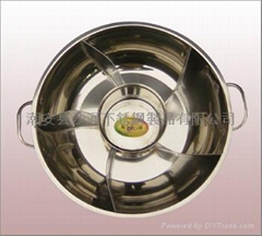 six flavor  fire pot cookware,stainless steel hot pot  Available gas stove