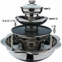 Soup BBQ Steam Pot King/Soup & BBQ Steam Kitchenware
