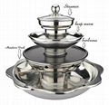 stainess steel steamboat/Stainless steel perforated slag-free hot pot  2