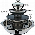 stainess steel steamboat/Stainless steel perforated slag-free hot pot  5