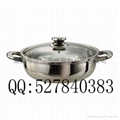 Soup Pan With Glass Lid,Stainless steel