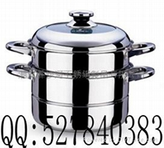 s/s Two layer Steamer,combined Steamer pot sets