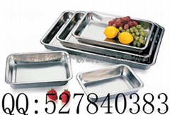 Square basin,tray,stainless steel squre plate,Rectangular plate