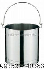 不锈钢包脚提水桶