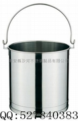 Stainless steel straight-body mention buckets,mention buckets