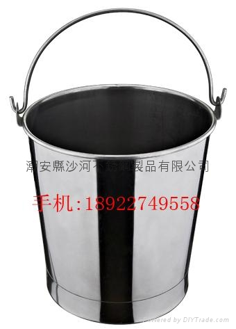kindergarten Catering Kitchenware S/S with handle Oblique Style Pail Bucket  2