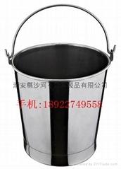 家庭储米不锈钢手提桶带脚