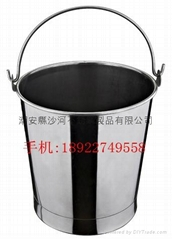 kindergarten Catering Kitchenware S/S with handle Oblique Style Pail Bucket