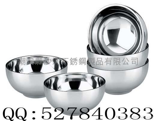 不锈钢双层隔热碗 1