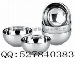 不鏽鋼雙層隔熱碗