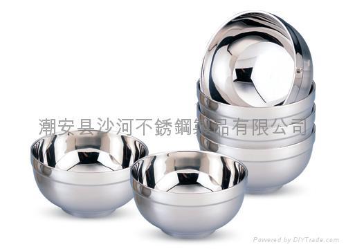 不锈钢双层隔热碗 2