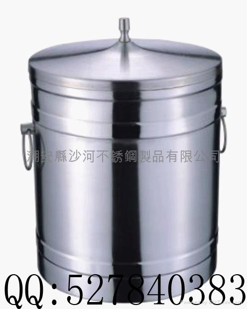 stainless steel double wall ice bucket(1L,2L) 1