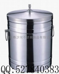 stainless steel double wall ice bucket(1L,2L)