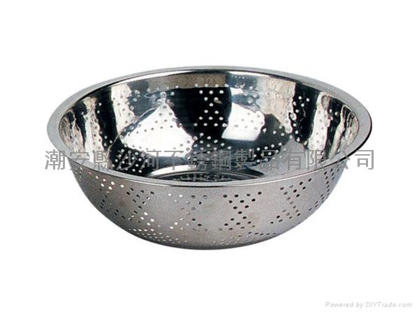 stainless steel Colander,Perforated basin,Round shape Colander 1