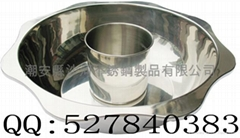 s/s lotus shape casserole with centre pot at reasonable prices OEM available