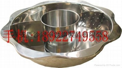hot pot store articles stainless steel Shabu Shabu pot with divider