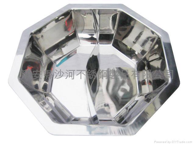 不锈钢八角盆 2