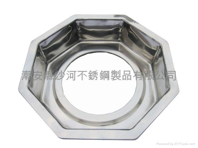 S/S Octagonal shape Shabu Shabu Hot Pot with central pot Available Gas stove 3