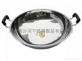 S/S Octagonal shape Shabu Shabu Hot Pot with central pot Available Gas stove 4