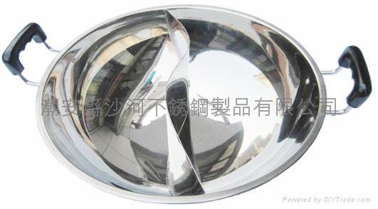 S/S Octagonal shape Shabu Shabu Hot Pot with central pot Available Gas stove 5