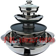 hot pot store s/s 4-tiers pagoda steamboat with grill hot pot use for gas stove